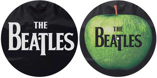 The Beatles slipmat 'Drop T logo & Apple'