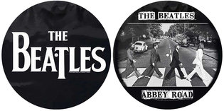 The Beatles slipmat 'Drop T logo & Abbey Road'