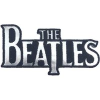 The Beatles opstrijk patch 'Drop T Logo - silver'