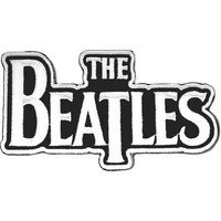 The Beatles patch 'Drop T logo - white' (iron on)
