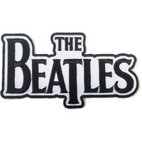 The Beatles patch 'Drop T logo - black' (iron on)