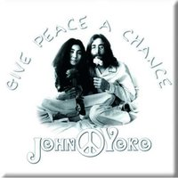 John Lennon magneet 'Give peace a chance'