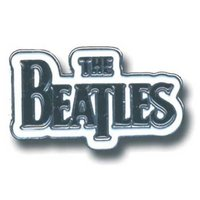 The Beatles pin 'zwart logo'