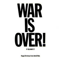 John Lennon wenskaart 'War Is Over'