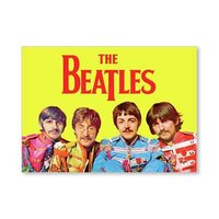 The Beatles magneet 'Sgt Pepper - geel'