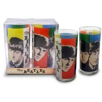 The Beatles glazen set 'colours' (2 stuks)