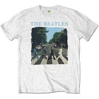 The Beatles T-Shirt 'Abbey Road & Logo (wit)'