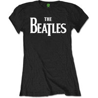 The Beatles T-Shirt 'Drop T logo' (zwart)