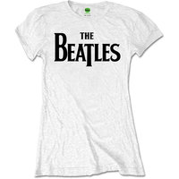 The Beatles T-Shirt voor dames 'Drop T logo' (wit)