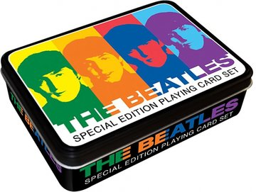 The Beatles speelkaarten in cadeau blik 'Colors'