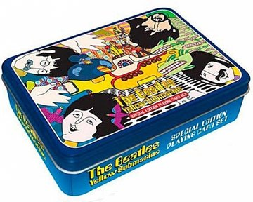 The Beatles speelkaarten in cadeau blik 'Yellow Submarine'
