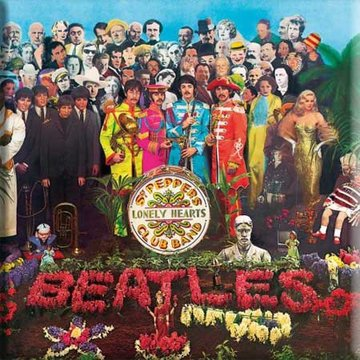 The Beatles metal wall sign 'Sgt Pepper'