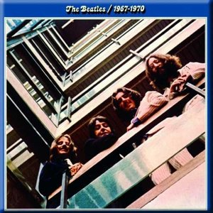 The Beatles magneet '1967-1970 - blue album'
