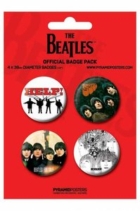The Beatles buttons - rood