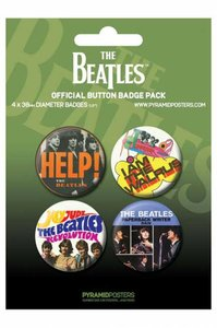 The Beatles buttons - groen