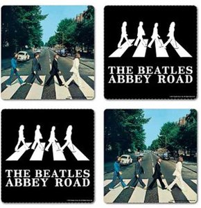 The Beatles onderzetters set 'Abbey Road'