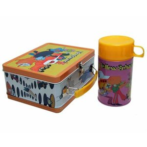The Beatles retro lunch box cadeau set 'Yellow Submarine'