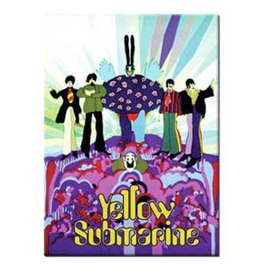 The Beatles magneet 'Yellow Submarine - paars'